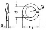 verzinkt Federstahl galv glatt 10 DIN 127 Federringe Form B 10,2x18,1x2,2